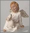 Engel mit Hase,10,5cm