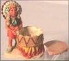 Dose,Indianer m.Trommel