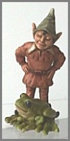 Elfe mit Frosch 11 cm