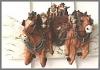 Kutschenscene, Wandbild,22x14cm