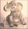 Elefant sitzend,20x19cm