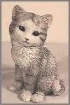 Katze, grau,21cm