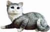 Katze, liegend,G.28cm