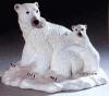 Eisbär m.Jung.28cm