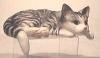 Kanten Katze, grau
