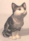 Aufrechte Katze, gr.grau