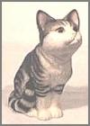 Aufrechte Katze, gr.gr.-braun