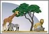 Herde, auf Safari-Spiegel**