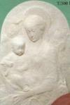 Madonna m. Kind, weiß 54x79